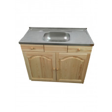 Кухненски шкаф с мивка - 100 х 50 със средно корито