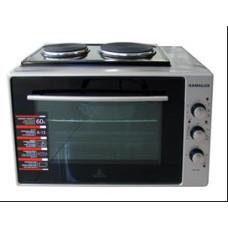 Малка готварска печка Gamalux I 60HPGBK двойно стъкло - сиво черна
