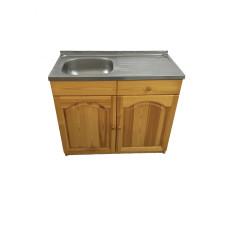 Кухненски шкаф с мивка - 100 х 50 с ляво корито