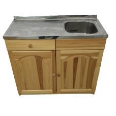 Кухненски шкаф с мивка - 100 х 50 с дясно корито