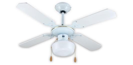 Вентилатор на таван през зима и през лято