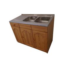 Кухненски шкаф с мивка - 120 х 60 с две десни корита