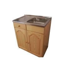 Кухненски шкаф с мивка - 80 х 50 с дясно корито