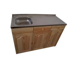 Кухненски шкаф с мивка - 120 х 50 с ляво корито
