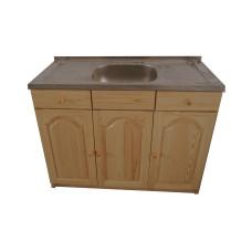 Кухненски шкаф с мивка - 120 х 50 със средно корито