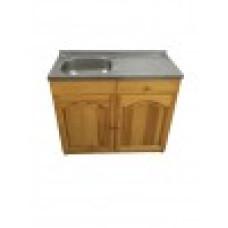Кухненски шкаф с мивка - 100 х 60 с ляво корито